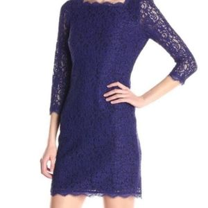 Adrianna Papell Blue Lace Dress 6
